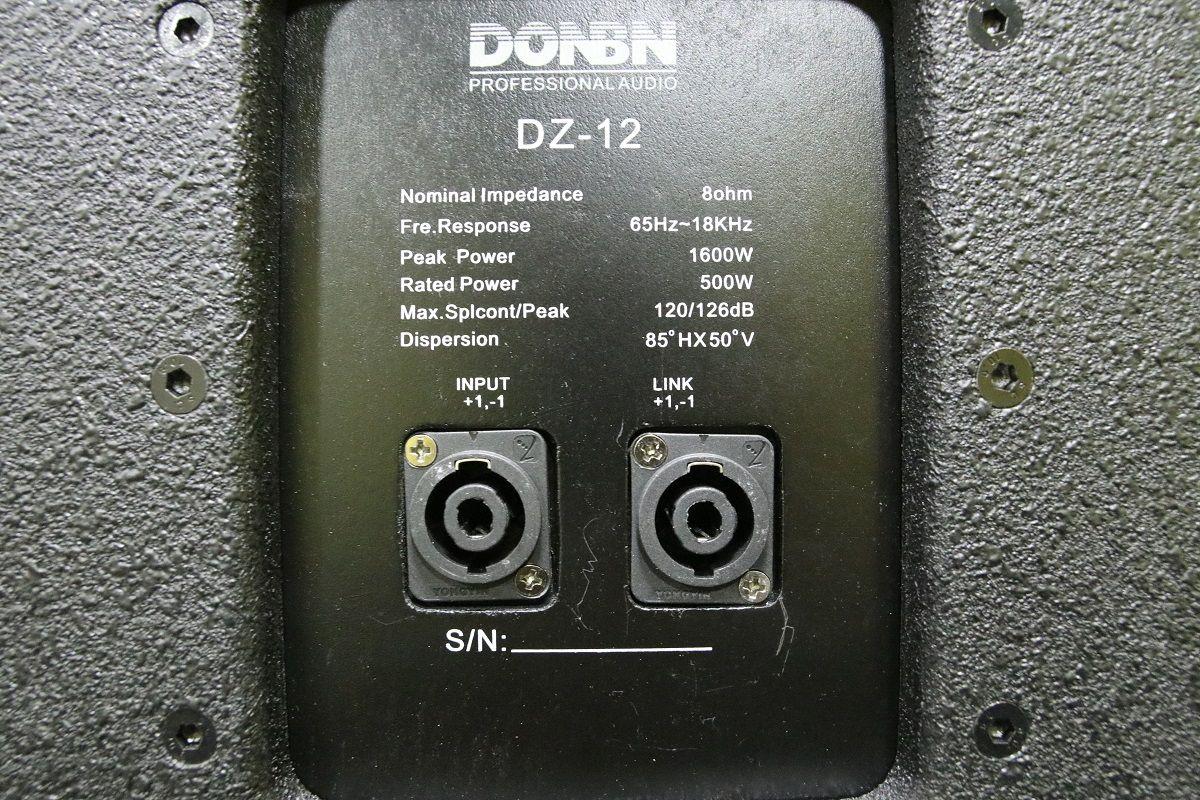 Thông số mặt sau loa full donbn df12